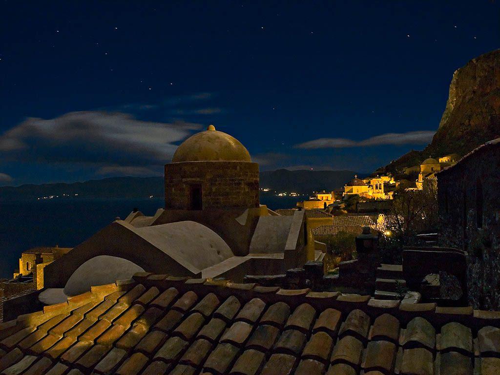 Monemvasia at night