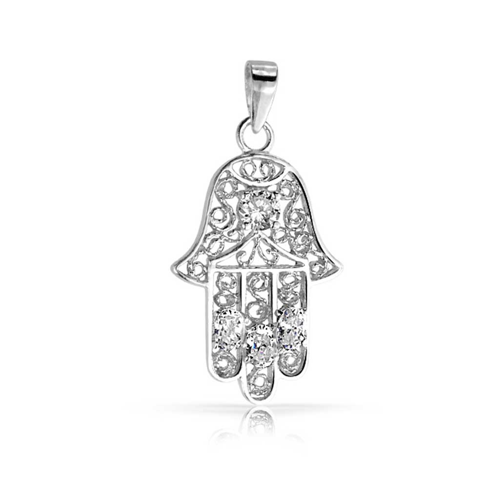 The evil eye in greece fly me to the moon travel silver pendant hamsa hand czyc ycp10391 aloadofball