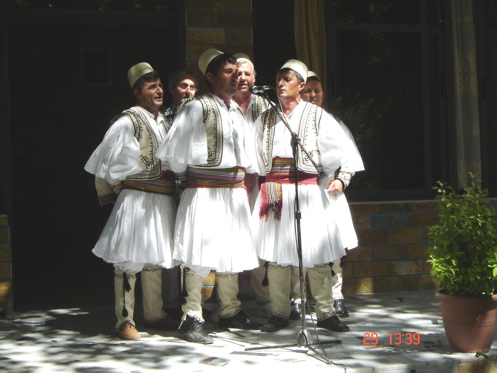A_traditional_male_folk_group_from_Skrapar