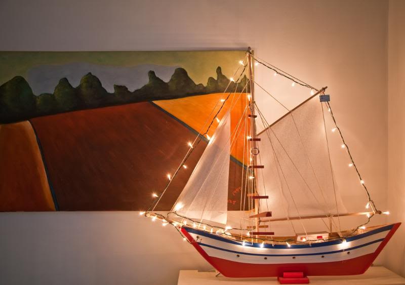 wooden boat - Greek Christmas Decorations