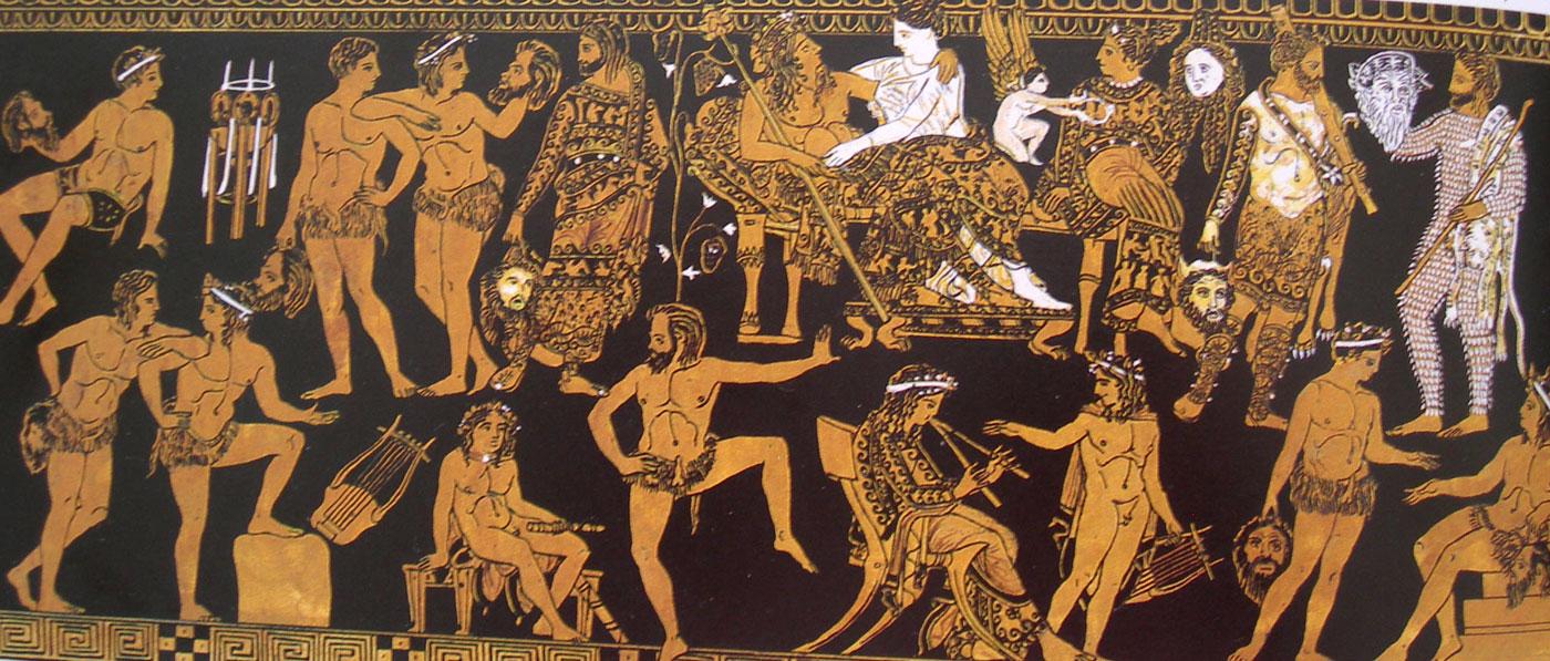 Image result for crowd on greek vase