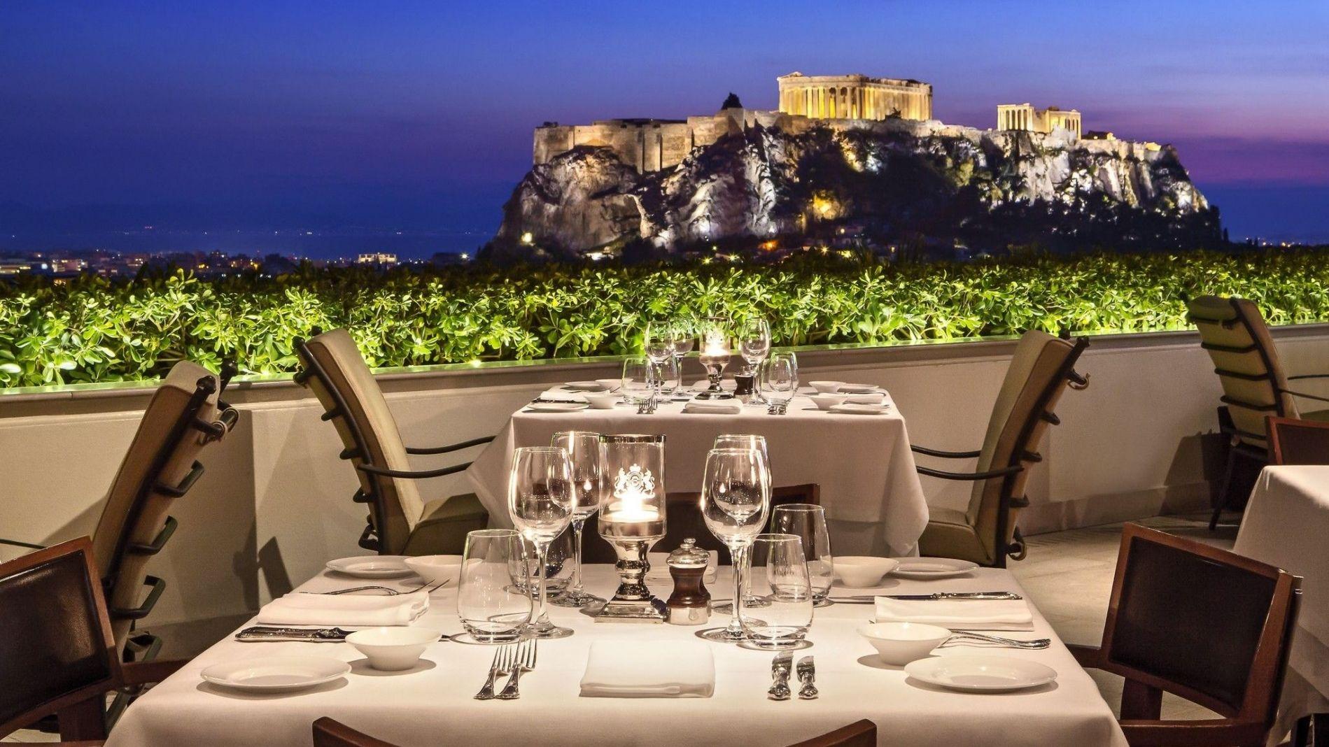 Hotel Grande Bretagne Roof Garden Restaurant