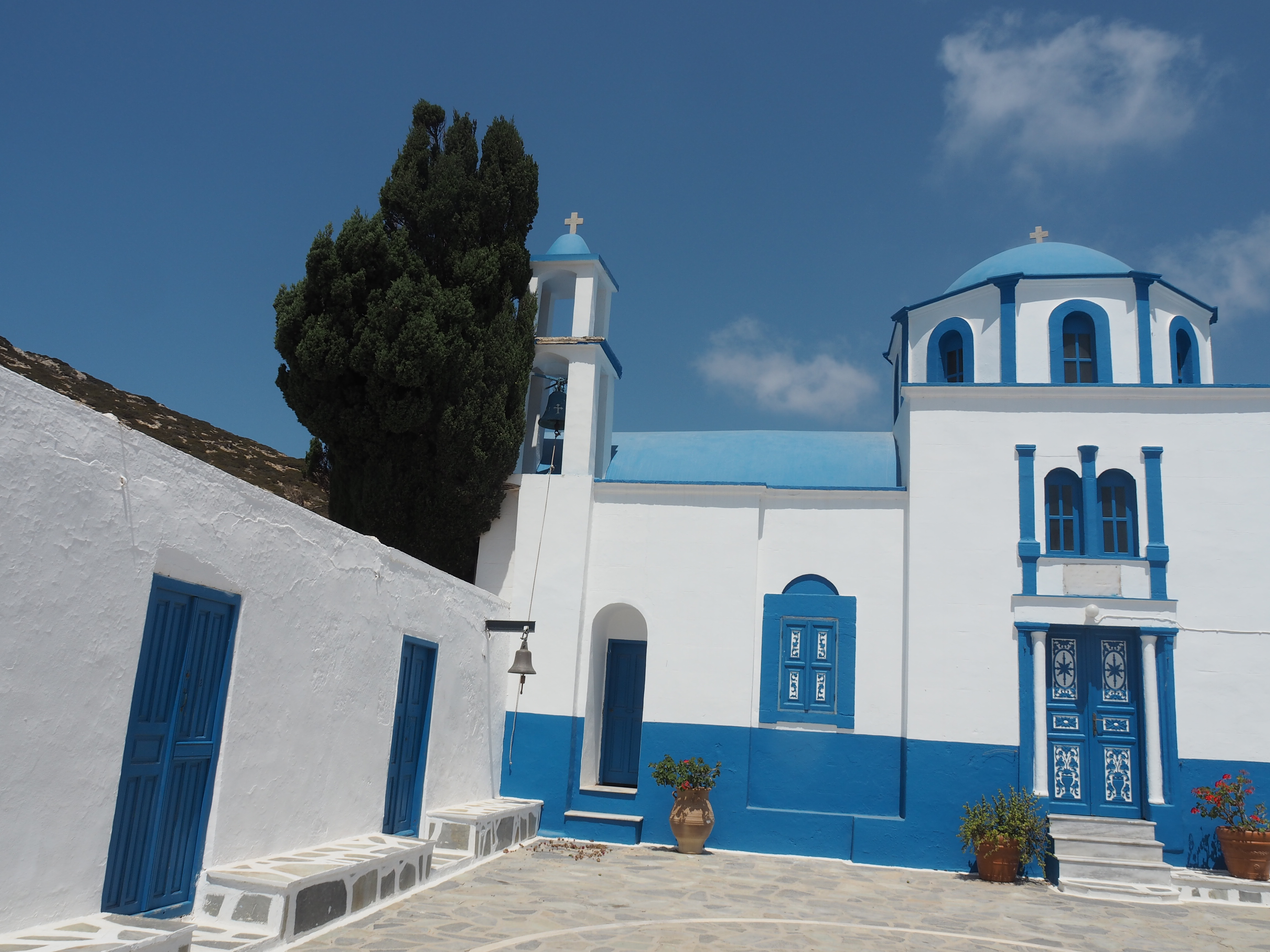 Blue Is A Color Which Signifies The Sky And Sea But Also Represent Colors Of Greek Flag
