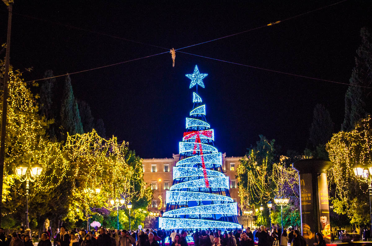 the christmas tree is not a greek invention but it is well loved by the greek people the tradition of decorating an evergreen conifer tree came to greece - Greek Christmas Decorations