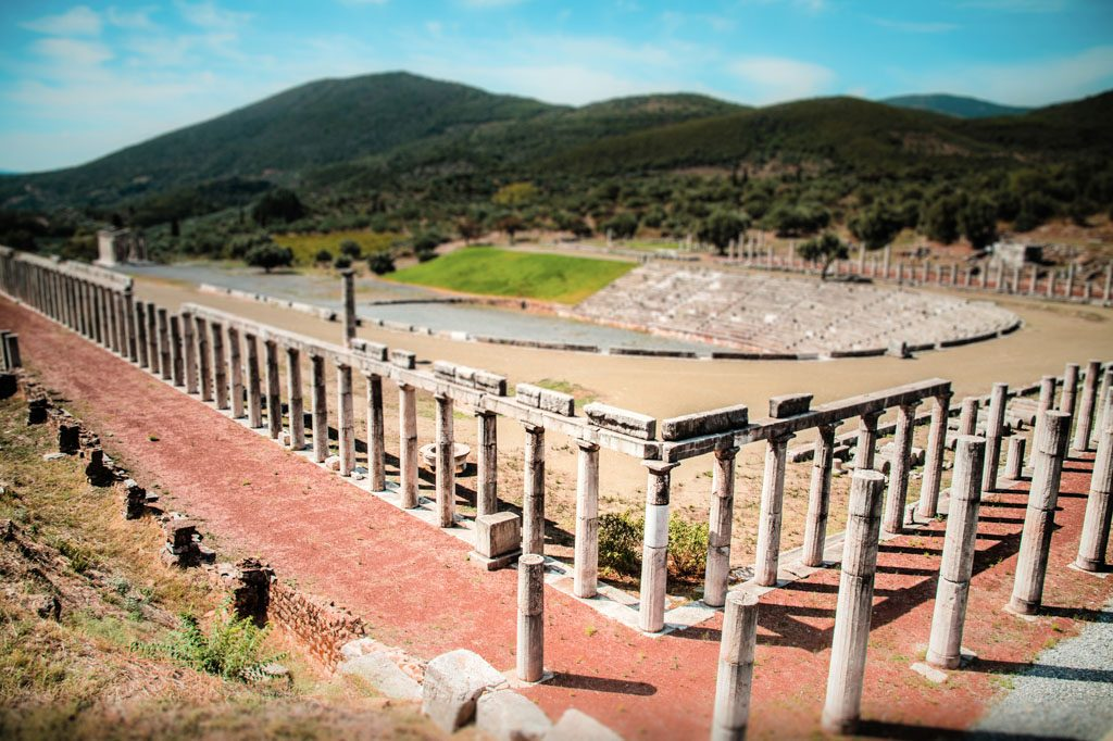 stadium in the city of Ancient Messina, Peloponnes, Greece