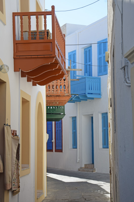 Balconys at an Alley in Mandraki, Nisyros